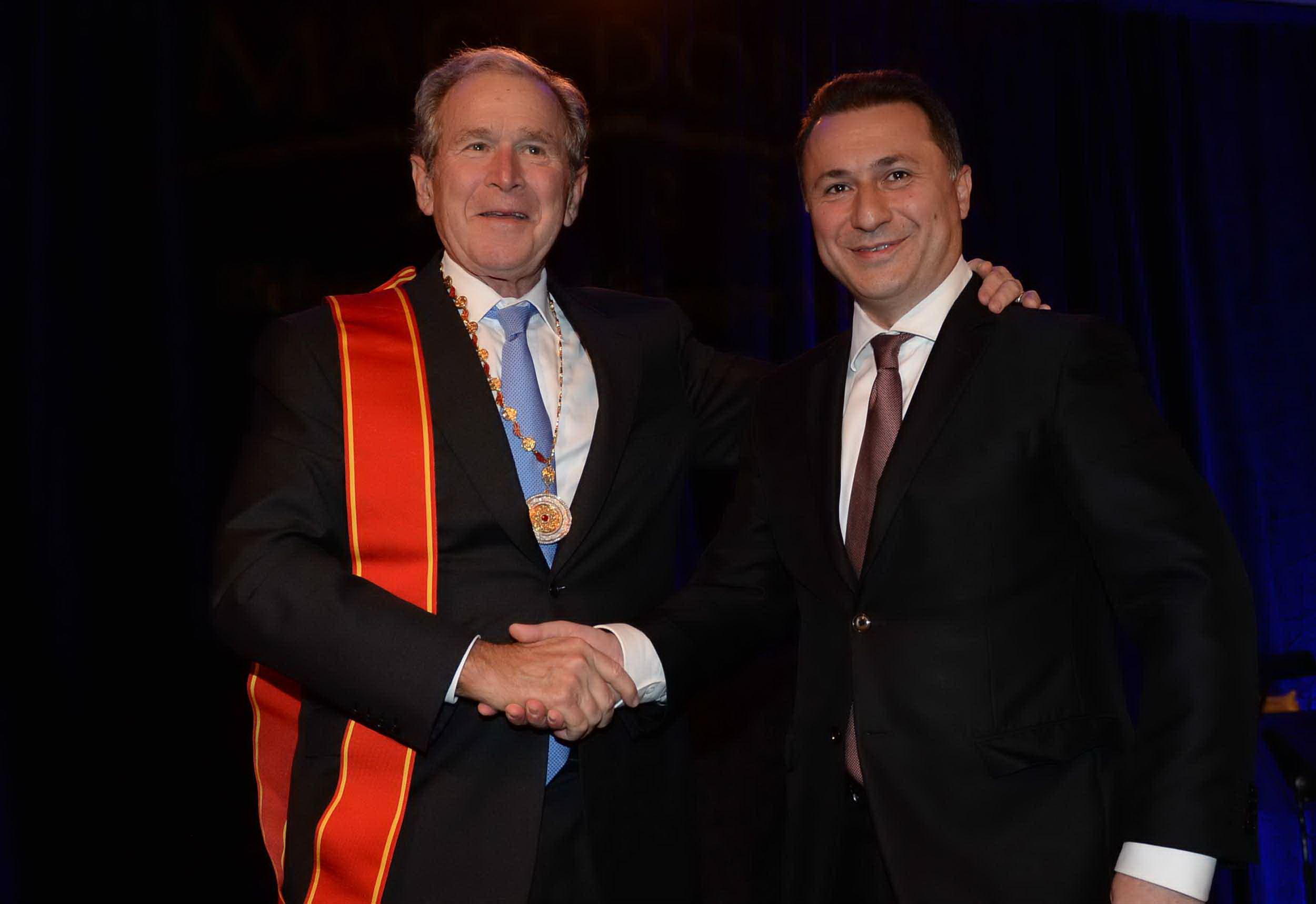 Премиерот Груевски му врачи орден на РМ на претседателот Џорџ Буш