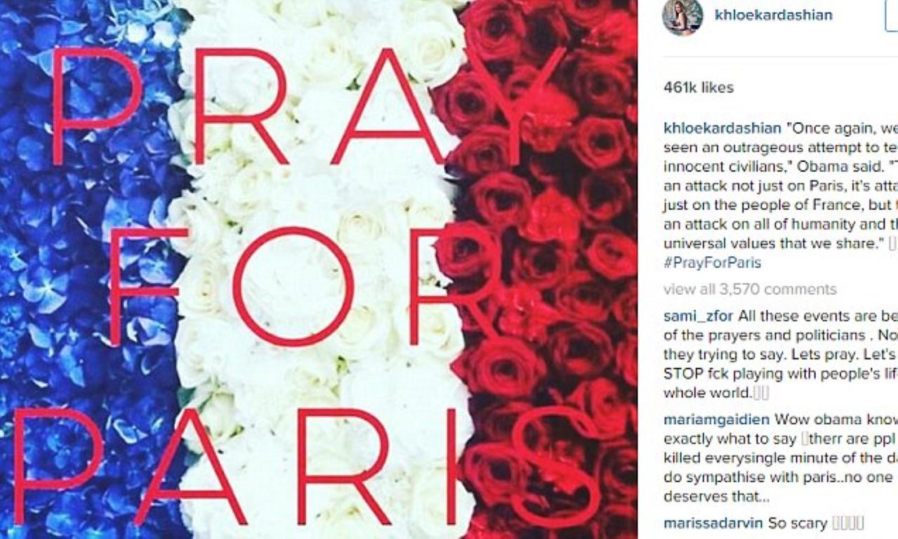 """Познатите личности ширум светот: """"Да се помолиме за Париз!"""""""