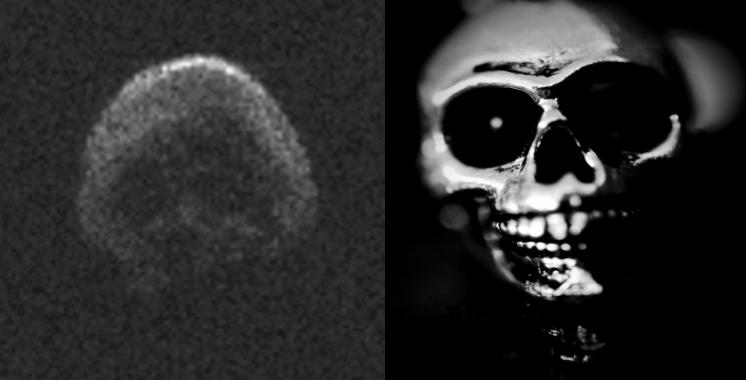 """Астероид во форма на череп помина покрај Земјата за време на """"Халовин"""""""