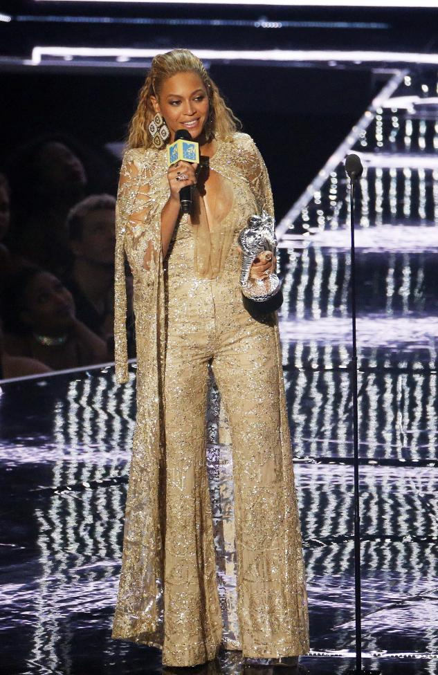 Beyonce accepts the Female Video of the Year award during the 2016 MTV Video Music Awards in New York