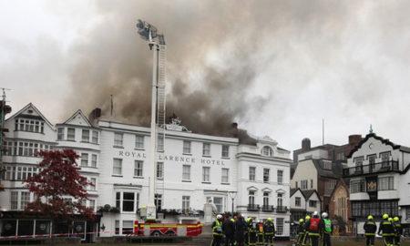 Во пожар сериозно оштетен најстариот хотел во Англија