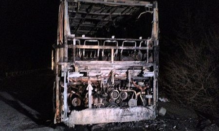 Бугарски автобус што патувал кон Македонија изгорел кај ГП Ѓуешево- Деве Баир